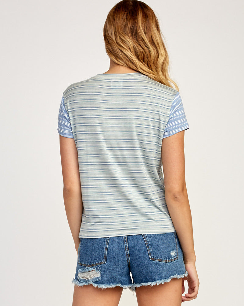 Recess Striped Knit Tee - Blue
