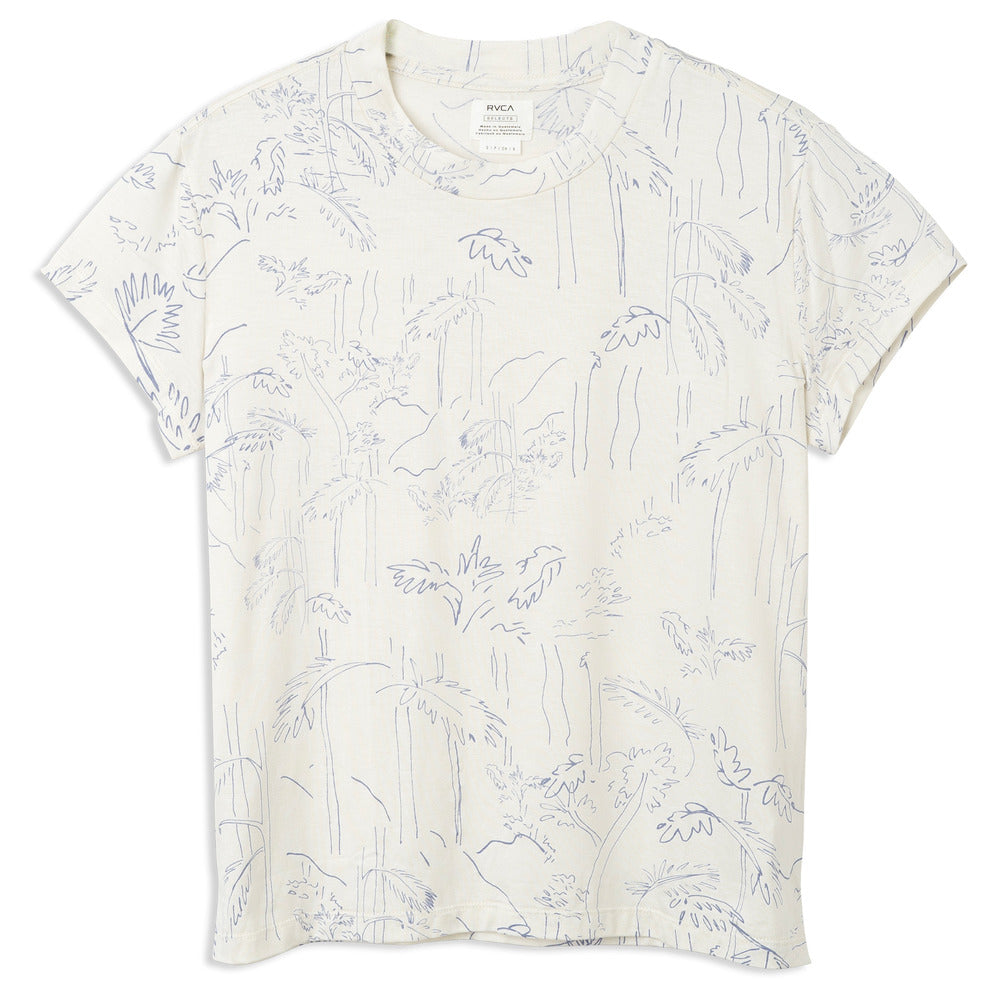 Suspension Printed Top - White
