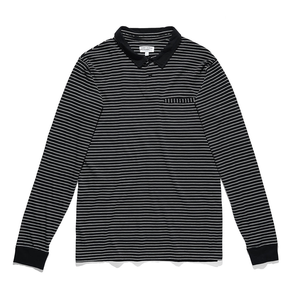 Compilation Long Sleeve Polo - Dirty Black