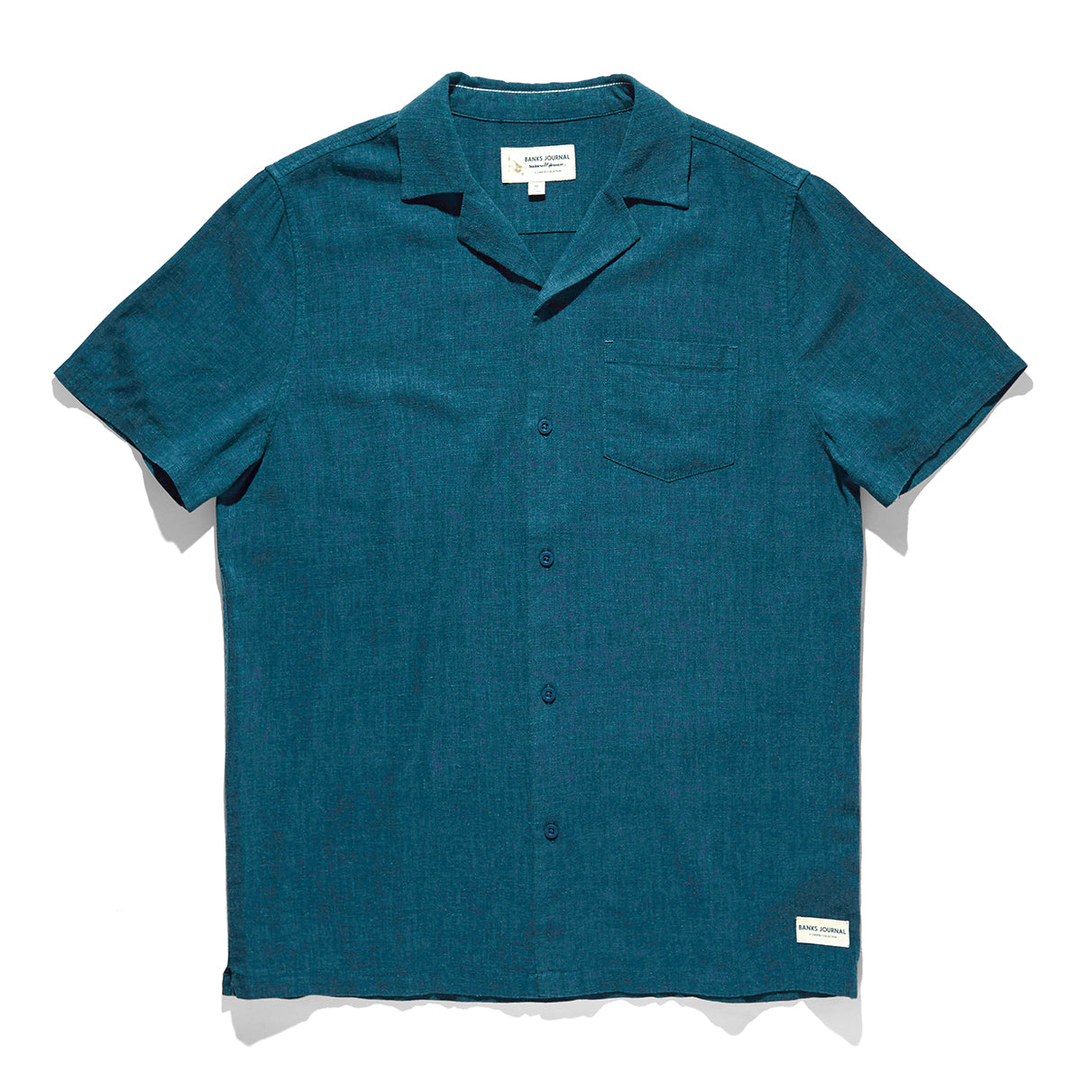 Business & Pleasure Co. Short Sleeve Linen Shirt - Slate