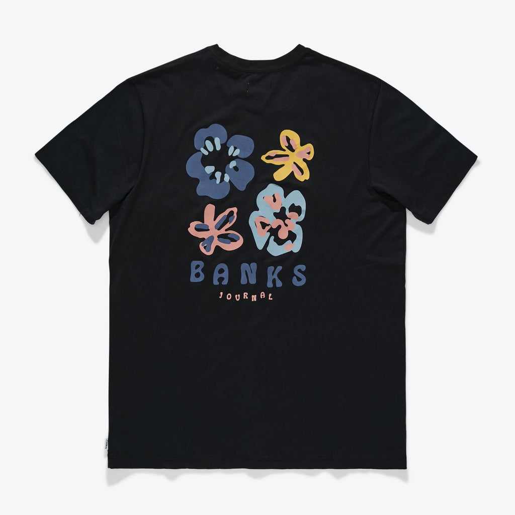 Travels Tee - Dirty Black