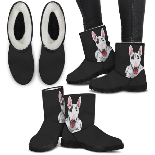 Faux Fur Bull Terrier Boots
