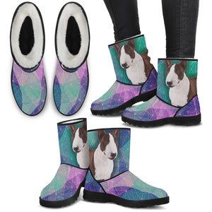 Bull Terrier 3 Faux Fur Boots