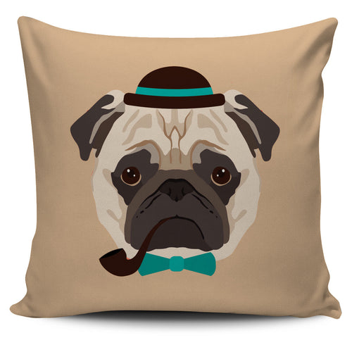Pug Pillow Cover - footsteppers