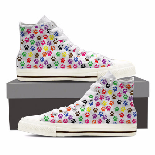 Paw Print - Womens Canvas Shoe