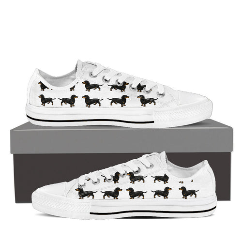 Dachshund Low Cut - Womens White