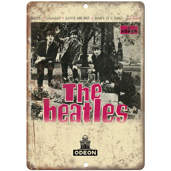 "The Beatles Odeon Records Capitol Album Cover 10""x7"" Reproduction Metal Sign K22"