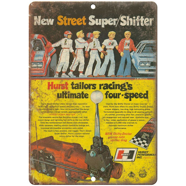 "Hurst Performance Four-speed Street Super Shifter 10"" x 7"" Retro Metal Sign"