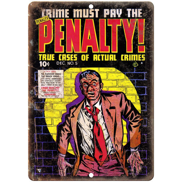 "Penalty! Ace Comics Vintage Cover Art 10"" X 7"" Reproduction Metal Sign J362"