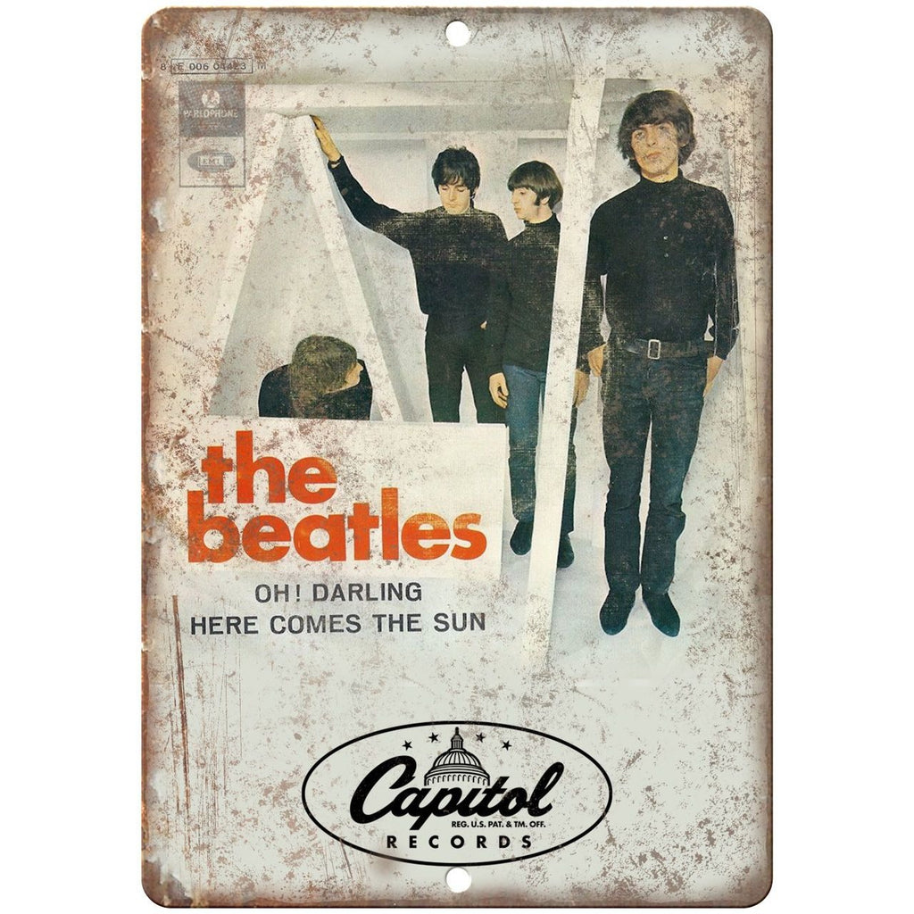 "The Beatles Oh! Darling Capitol Records 10"" x 7"" Reproduction Metal Sign"