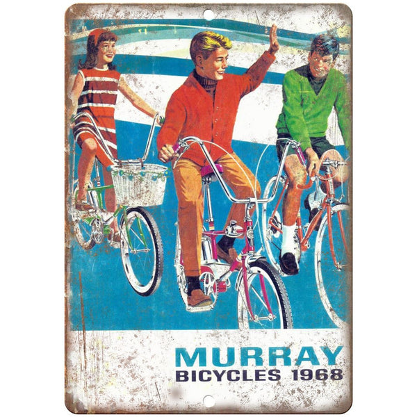 "1968 Murray Bicycles Vintage Ad 10"" x 7"" Reproduction Metal Sign B205"