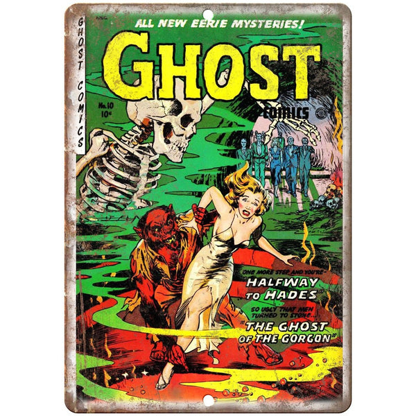 "Ghost Comics Vintage RARE Cover Art 10"" X 7"" Reproduction Metal Sign J238"