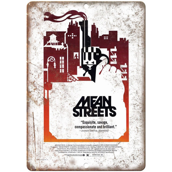 "Mean Streets Martin Scorsese Movie Poster 10"" x 7"" Reproduction Metal Sign"