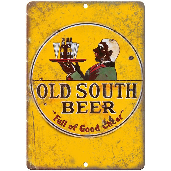 "Old South Beer Porcelain Look 10"" X 7"" Reproduction Metal Sign U105"