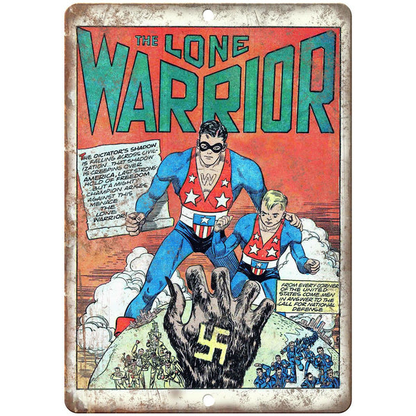 "The Lone Warrior Comic Book Cover Art 10"" x 7"" Reproduction Metal Sign J534"