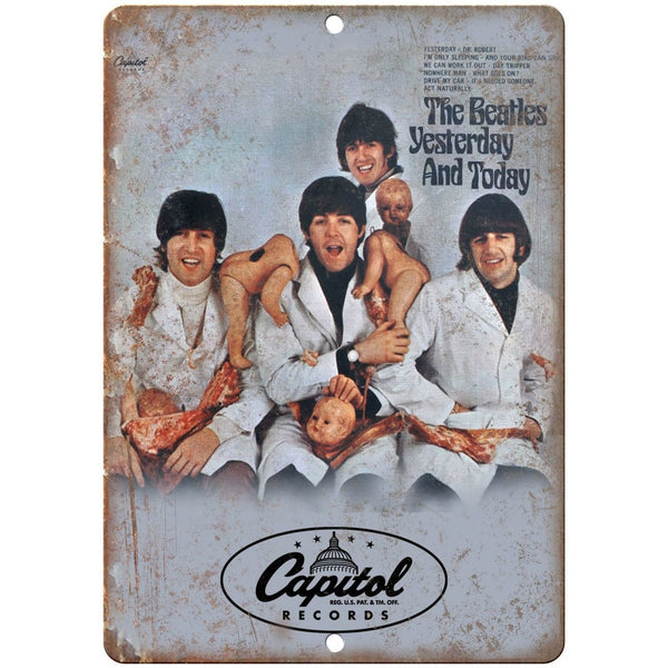 "The Beatles Yesterday and Today RARE Album Cover 10"" x 7"" Retro Metal Sign K26"