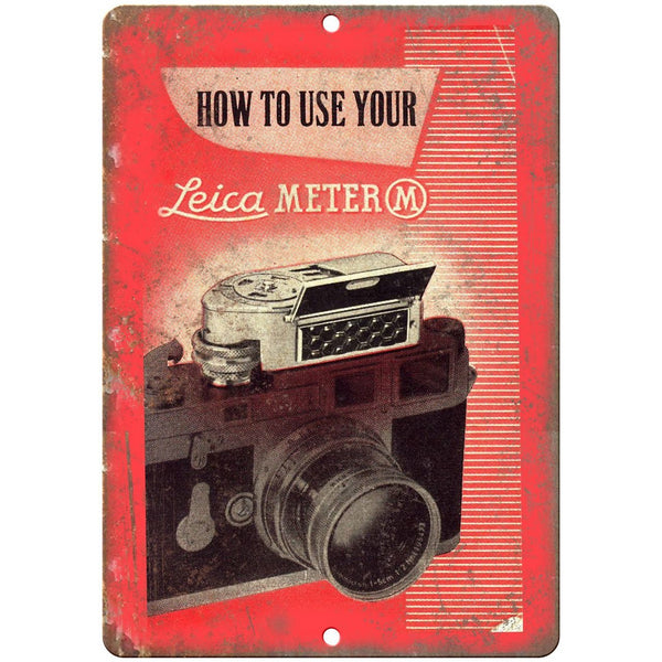 "How To Use YOur Leica Meter 35 mm Camera 10"" x 7"" Retro Look Metal Sign"