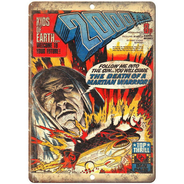 "2000 A.D. Vintage Comic Cover Book Ad 10"" x 7"" Reproduction Metal Sign J701"