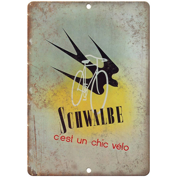 "Schwalbe Bicycle Vintage Ad 10"" x 7"" Reproduction Metal Sign B361"