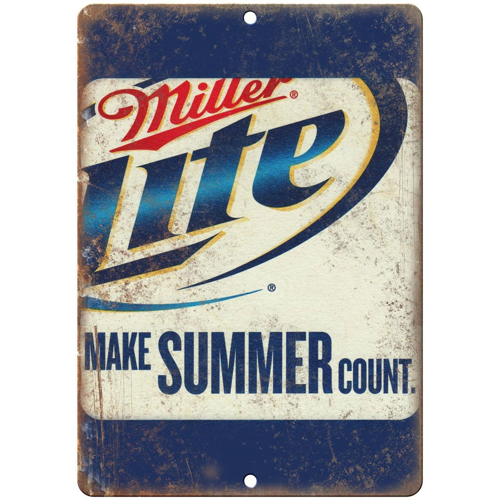 "Miller Lite Vintage Beer Man Cave Ad 10"" x 7"" Reproduction Metal Sign E272"