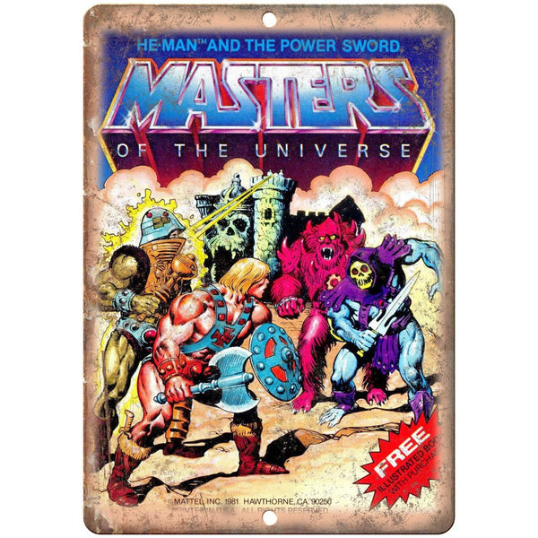 "He-Man Masters of The Universe Comic Cover 10"" x 7"" Reproduction Metal Sign J03"
