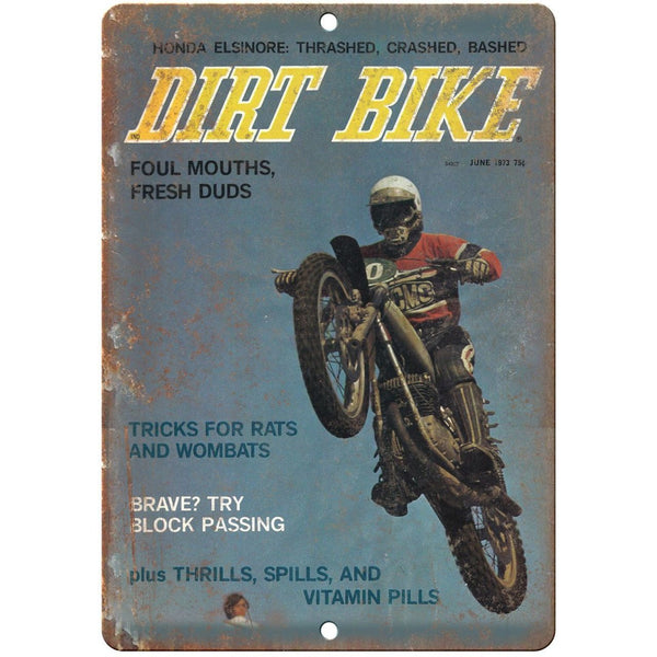 "Dirt Bike Magazine Cover Vintage Ad 10"" x 7"" Reproduction Metal Sign A465"