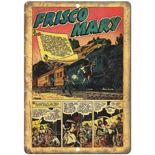 "Frisco Mary Vintage Comic Strip Art 10"" X 7"" Reproduction Metal Sign J328"