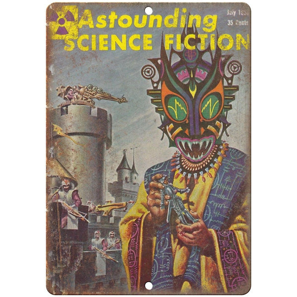 "1958 - Astounding Science Fiction 10"" x 7"" reproduction metal sign"