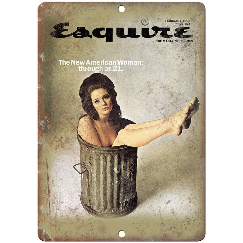 "Esquire Magazine George Lois 1967 New Woman 10""x7"" Reproduction Metal Sign D09"