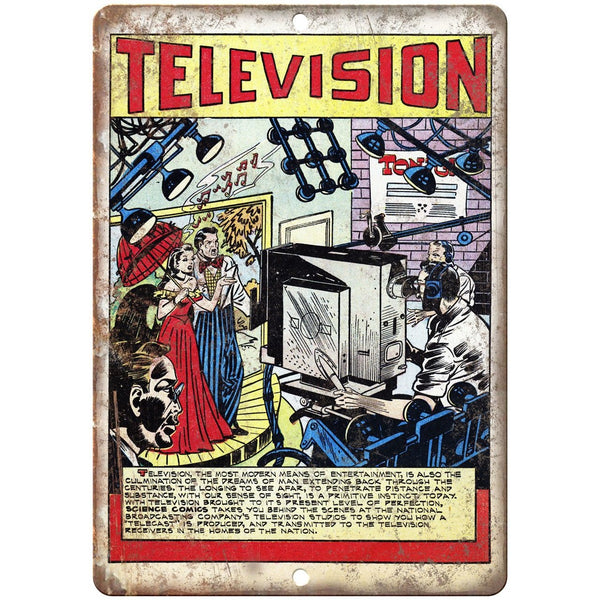 "Television Ace Comic Cover 10"" X 7"" Reproduction Metal Sign J498"