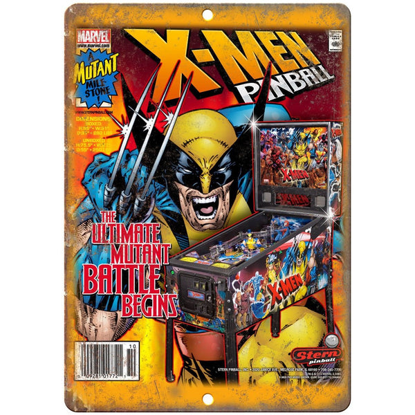 "X-Men Pinball Machine Ad 10"" x 7"" Reproduction Metal Sign G206"