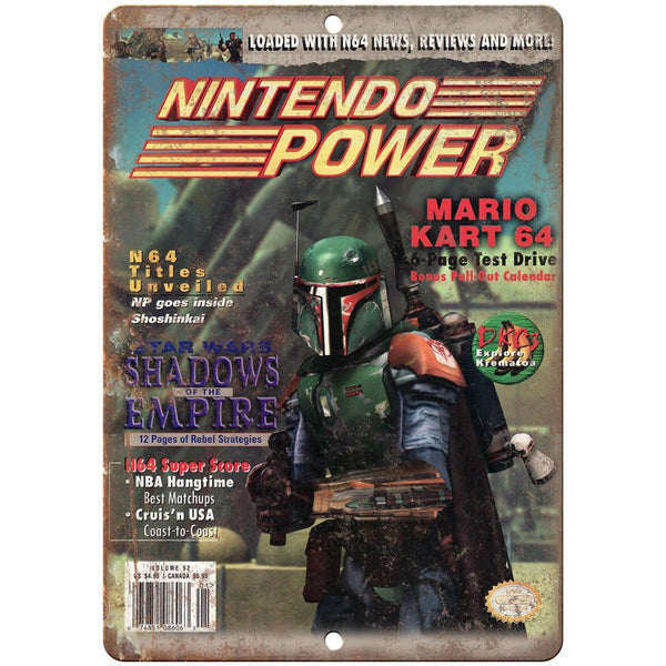 "Nintendo Power Shadows of the Empire Ad 10"" x 7"" Reproduction Metal Sign G278"