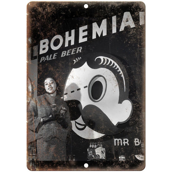"National Bohemian Beer Dorothea Towles 10"" x 7"" Retro Look Metal Sign"