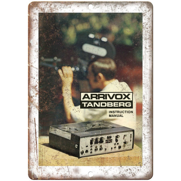 "Arrivox Tandberg Camera 35mm 10"" x 7"" reproduction metal sign"