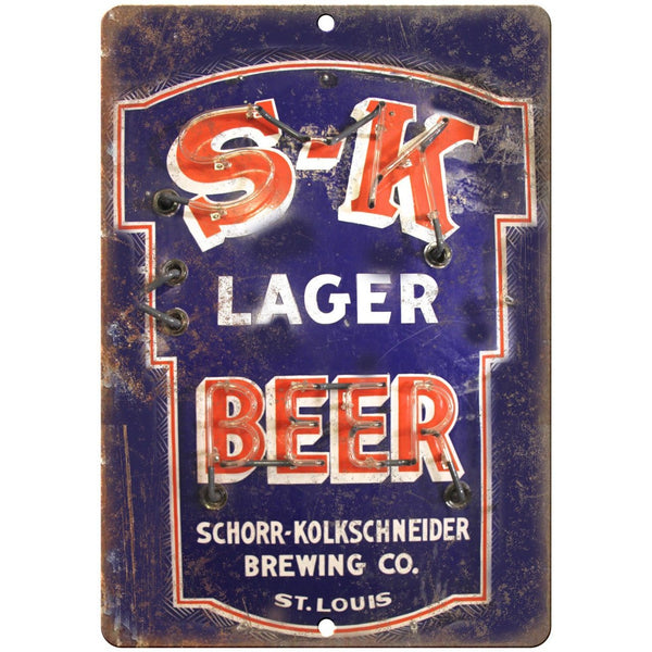 "Schorr Kolkschneider Beer Porcelain Look 10"" X 7"" Reproduction Metal Sign U86"