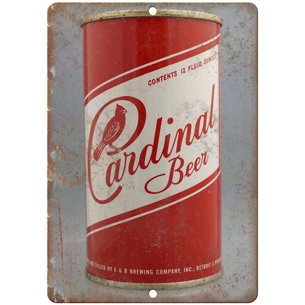 "Vintage Beer Can Cardinal Beer 10"" x 7"" reproduction metal sign"