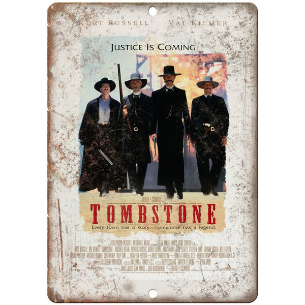 "10"" x 7"" Metal Sign - Tombstone Movie Poster Vintage Look Reproduction"