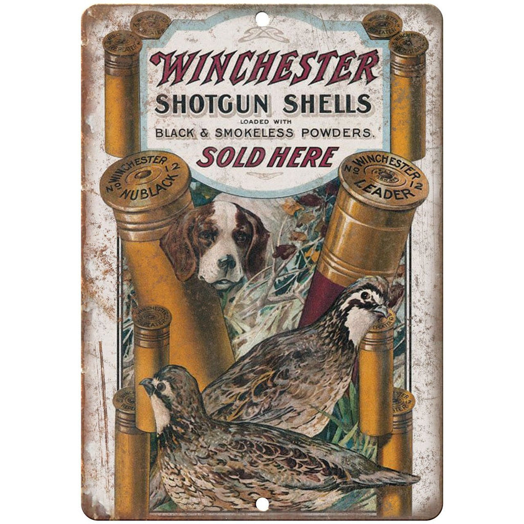 "Winchester shotgun shells vintage ad 10"" x 7"" reproduction metal sign"