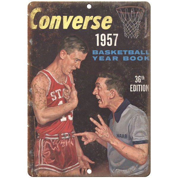 "1957 Converse Basketball Yearbook RARE sneaker 10"" x 7"" Reproduction Metal Sign"