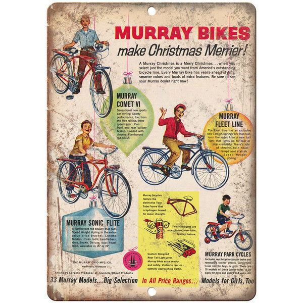 "Murray Bicycle Fleet Comet Sonic Flite Ad 10"" x 7"" Reproduction Metal Sign B505"