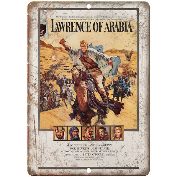 "Lawrence of Arabia Vintage Poster Art 10"" X 7"" Reproduction Metal Sign I142"