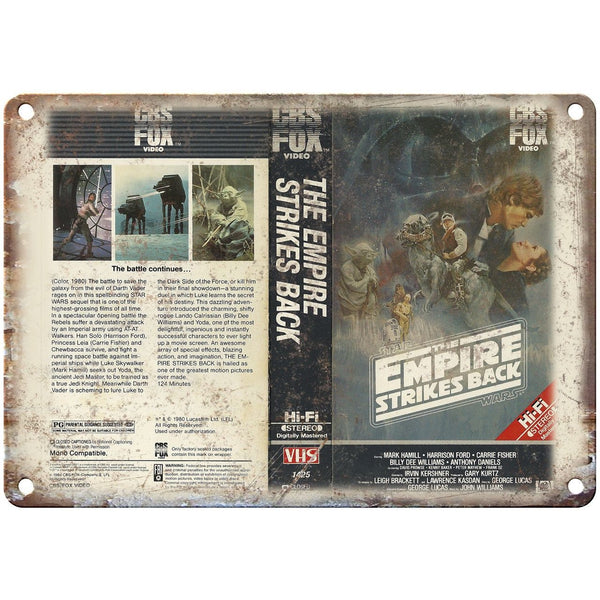 "The Empire Strikes Back VHS Cover Art 10"" X 7"" Reproduction Metal Sign V08"