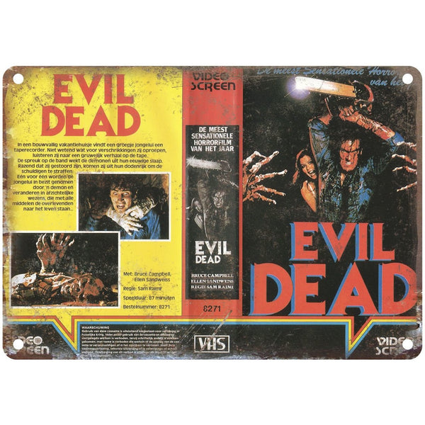"1981 Evil Dead Movie VHS Cover 10"" x 7"" Reproduction Metal Sign"