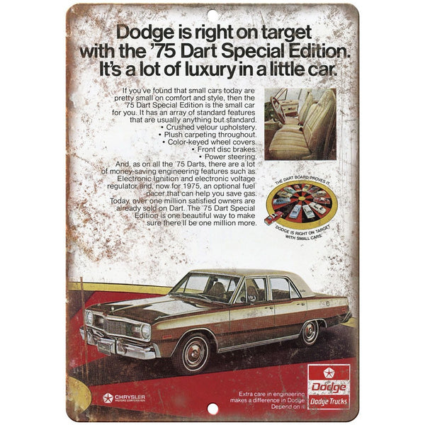 "1975 Dodge Dart Special Edition 10"" x 7"" Retro Look Metal Sign"