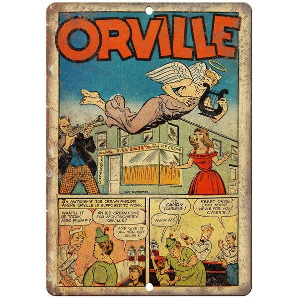 "Orville Ace Golden Age Comic Strip 10"" X 7"" Reproduction Metal Sign J473"