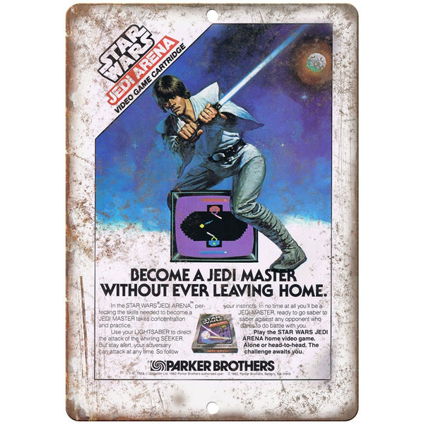 "Star Wars Jedi Arena Parker Brothers Video Game 10"" x 7"" Reproduction Metal Sign"