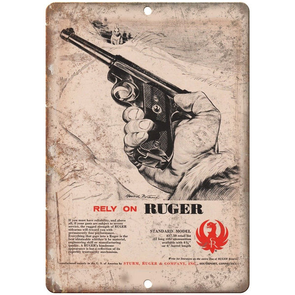 "Sturm Ruger & Company Ranch Sidearms 10"" x 7"" Reproduction Metal Sign"