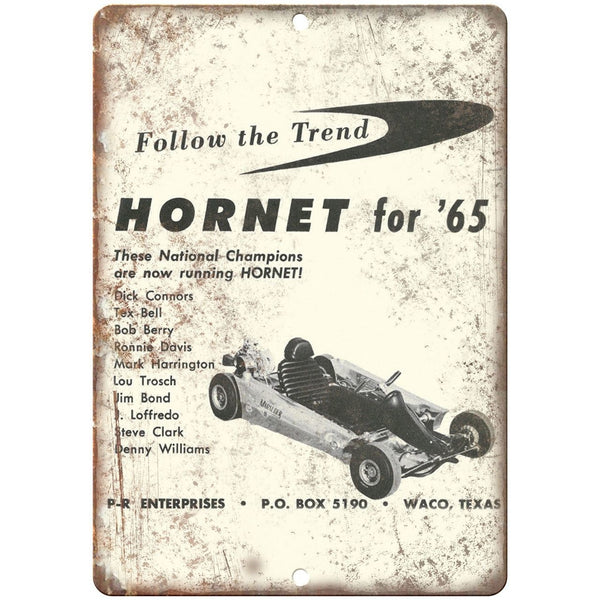"1965 Hornet Go Kart Vintage Ad 10"" x 7"" Reproduction Metal Sign A336"