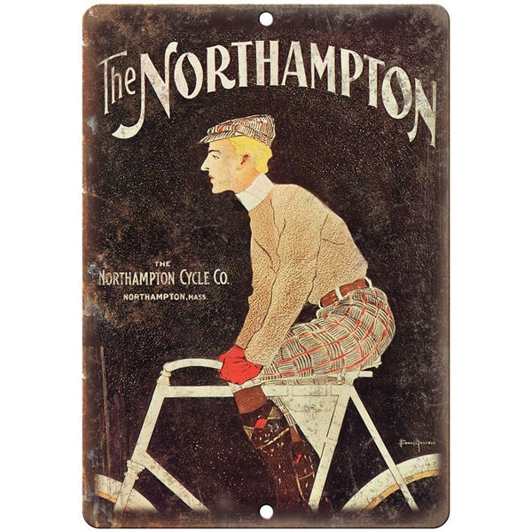 "The Northampton Cycle Co. Vintage Bicycle 10"" x 7"" Reproduction Metal Sign B347"
