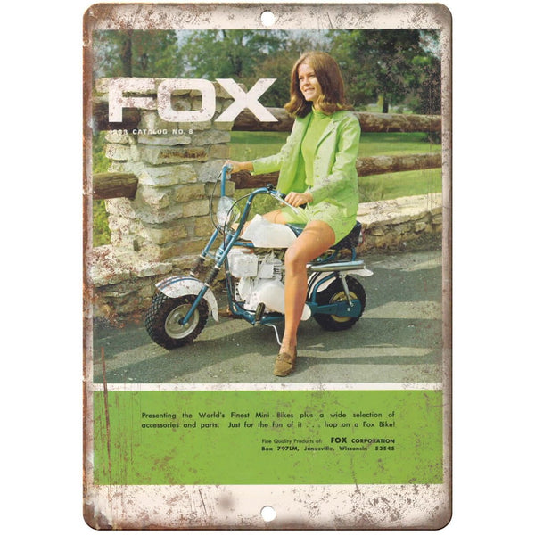 "1963 FOX Mini-Bike Vintage Ad 10"" x 7"" Reproduction Metal Sign A470"